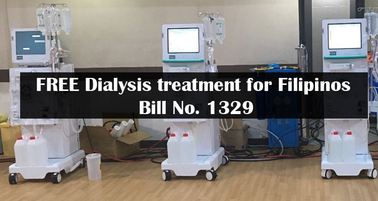 FREE Dialysis treatment for Filipinos: Bill No. 1329 FILED